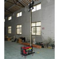 Quality portable gasoline generator mobile light tower 2000W lamps/4.2m pneumatic telescopic mast/3KW generator wholesale