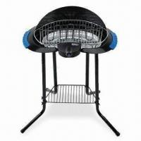 Cheap Smoke-free Electric Barbecue Grill with Stand and Adjustable Cooking Temperature for sale