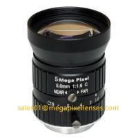 China 1/1.7 5mm F1.6 Megapixel Manual IRIS C Mount Industrial FA Lens, 5mm 5MP Machine Vision Industrial Lens on sale