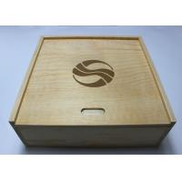 Quality Custom Decorative Wooden Box With 4 compartments , Pine Storage Box wholesale