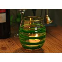 Quality Round Decorative Glassware Bowls Mouth Blown Candle Holder For Home wholesale