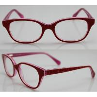 Quality Red Spectacles Glasses Frames , Vintage Acetate Kids Eyewear Frames wholesale