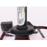 Quality H4 8000LM 12V LED Headlight , Philips ZES LED Lights Bulb With Gauss Cooling Fan wholesale