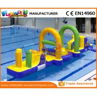 Quality 0.55 MM PVC Tarpaulin Inflatable Water Toys / Inflatable Obstacle Course For Water Park wholesale