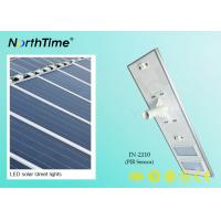 110W Solar Powered Road Lights , Solar LED Street Lighting 120° Beam Angle