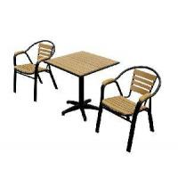 China Patio Furniture Plastic Wood Furniture Table & Chair (BZ-P020) on sale