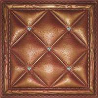 Quality Eco-friendly Buffering 3D Leather Wall Tiles Washable Highly embossed wholesale