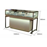 Quality Pre - Assembled Structure Jewelry Store Display Cases With Stainless Steel Frame wholesale