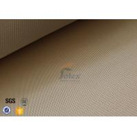 Quality 1200gsm 35oz Brown High Silica Fabric 1200℃ Satin Fiberglass Fire Blanket wholesale