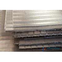 Buy cheap SS304 & SS316 Series, Flat Wedge Wire Screen, 0.05mm-10mm Slot Hole from wholesalers