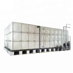 China Corrosion Proof 1000 Gallon Storage Tank , Fiber Modular Rainwater Tanks For Seawater Storage on sale