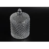 Quality Elegant White Glass Dome Candle Holder Personalised Glass Jars With Lid wholesale
