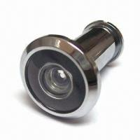 Zinc-alloy Door Viewer, Offers 200-degree Viewing Range, in Chrome or Brass Plating