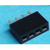Quality Single Row DIP Vertical Type Female Header Connector 4 Contacts With PA6T Material wholesale
