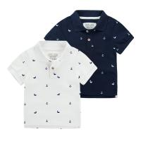 China cotton Polo t shirts short sleeve boys girls infents babies kids childrens safty knit wear on sale