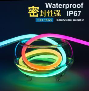 China Progra Color Chasing Magic Digital Rgb Addressable LED Pixel Neon Flex DMX512 Programmable LED Neon Rope Light on sale