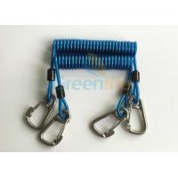 Buy cheap Security 316# Carabiner Snap Hook Blue Spring Elastic Plastic Coiled Tethers from wholesalers