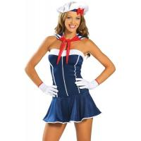 Sailor Sexy Wonder Woman Costume ,  Plush Feather Female Santa Costume