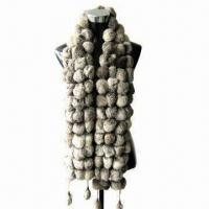 Quality Rabbit Fur Ball Scarf, Suitable for Women wholesale
