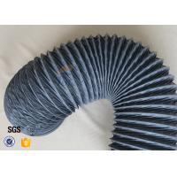 Quality 200 Degree 150mm PVC Coated Fiberglass Flexible Air Ducting For HAVC System wholesale