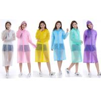 Quality Unisex Disposable PVC Rain Poncho Throw Away Lab Coats CE / ISO9001 OEM wholesale