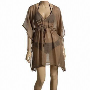 Cheap Ladies beach kaftan, made of chiffon fabric for sale