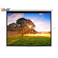 Quality Matte White Manual Projection Projector Screen 100 Inch for Office / Home wholesale