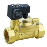 Quality Brass 3 Inch Solenoid Valve Low Power Slowly Heating Up For Water / Air / Steam / Oil wholesale