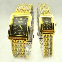 Quality Couple lover Yellow Color Metal Quartz Valentines Day Gift Watch Custom Logo wholesale