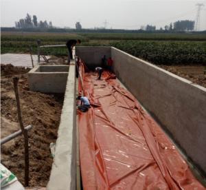 Quality 1.0mm PVC coated Tarpaulin 20m*20m*5m 2000 tons Biogas Holder Methane Gas Tank wholesale