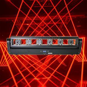 Quality DJ Lighting 6 Eyes 500mw Red Beam Moving Head Laser Bar Lights wholesale
