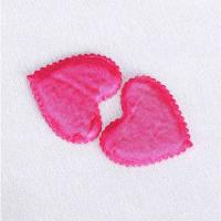 Quality Pink Satin Applique Crafts Triming Sewing Appliques Sew - On Style wholesale