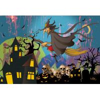 Quality Custom 30*40cm Happy Halloween Poster Lenticular Flip With 0.6mm PET For Party Decoration wholesale