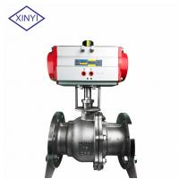 Quality XinYi 2 Way Stainless Steel PTFE Flanged Connection Pneumatic Actuated Ball Valve wholesale