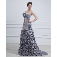Quality Gray Strapless Flower party dresses / heart shaped prom dresses long wholesale