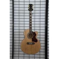 Quality Free shipping China handmade J2002 nature cut away electric acoustic guitar wholesale
