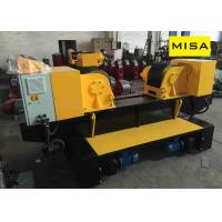 China 40T Yellow Fixed Adjustable Pipe Turning Rolls With 2*1.5KW Motor And Φ400mm PU Wheels on sale