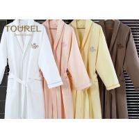 Quality White Flannel Cotton Hotel Quality Bathrobes Colorful Luxury Spa Robes wholesale