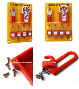 Quality Insulation Wall mounted 4-Lock Lockout Station 23cm(W)*33cm(H)*0.5cm(T)OSHA Standard wholesale