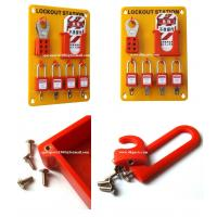 Buy cheap Insulation Wall mounted 4-Lock Lockout Station 23cm(W)*33cm(H)*0.5cm(T)OSHA from wholesalers