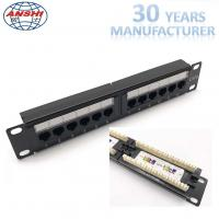 Buy cheap 1U 10'' Inch 12 Port CAT6 UTP Patch Panel 110 IDC Type, can OEM from wholesalers