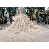 Cheap Tulle Wedding Bridal Ball Gowns Long Sleeves V Neckline Lace Applications for sale