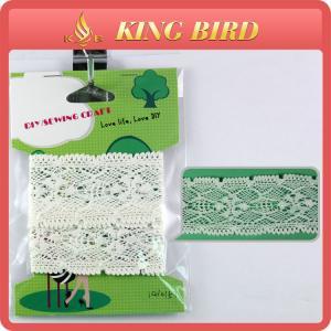 Quality DIY Handbag Lace Ribbon Trim Boutique Lace Embellished Cotton Lace wholesale