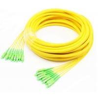 China 8/12/24/48 Core Fiber Optic Breakout Cable SC/APC Load With Strong Protective Pulling Tube on sale