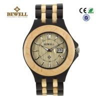 Quality Luxury Hand Crafted Wooden Wrist Watch For Groomsmen , Ebony Maple wholesale