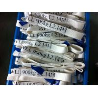 Quality Safety Factor 5 To 1 Endless Webbing Sling 900kg White Color OEM Available wholesale