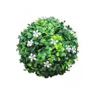 Quality Decorative Artificial Boxwood Balls , Artificial Grass Ball Resistant Rain And Frost wholesale