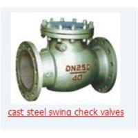 China Cast steel swing check valves on sale