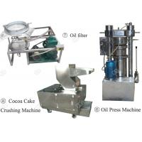 Industrial Cocoa Powder Production Line , Nut Processing Machine 50 Kg/H