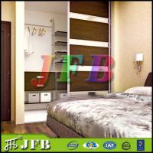 2015 modern bedroom wall cloth wardrobe cabinet design